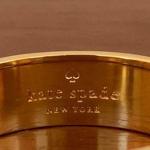"""kate spade Jewelry - Kate Spade """"It's A Breeze"""" Hinged Bangle Bracelet"""
